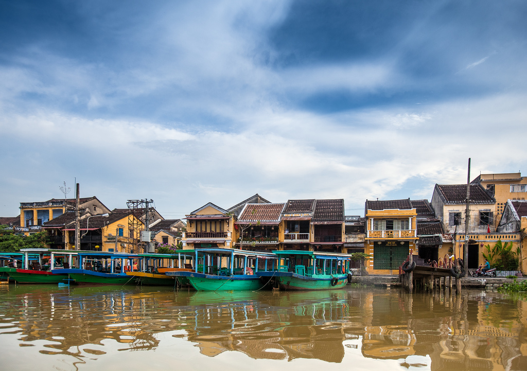 Hoi An architecture on the riverside